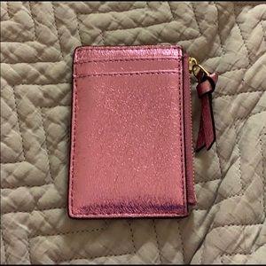 Tory Burch Bags - Tory Burch Pink Metallic Card Holder
